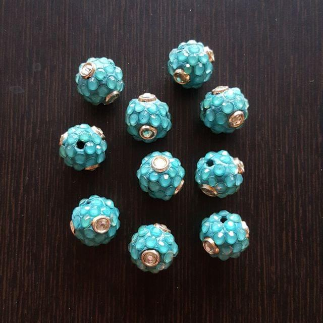 10pcs, Blue, Takkar bead Spacers, 15mm