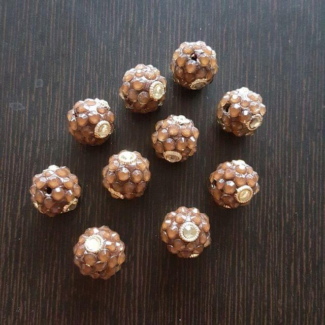10pcs, Brown, Takkar bead Spacers, 15mm