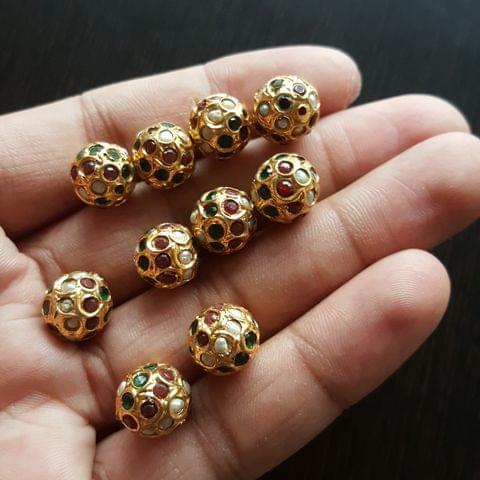 10pcs, Multi Jadau Balls, 12mm