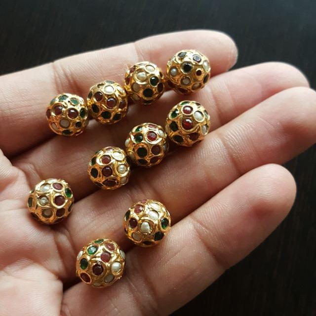 10pcs, Multi Jadau Balls, 12mm