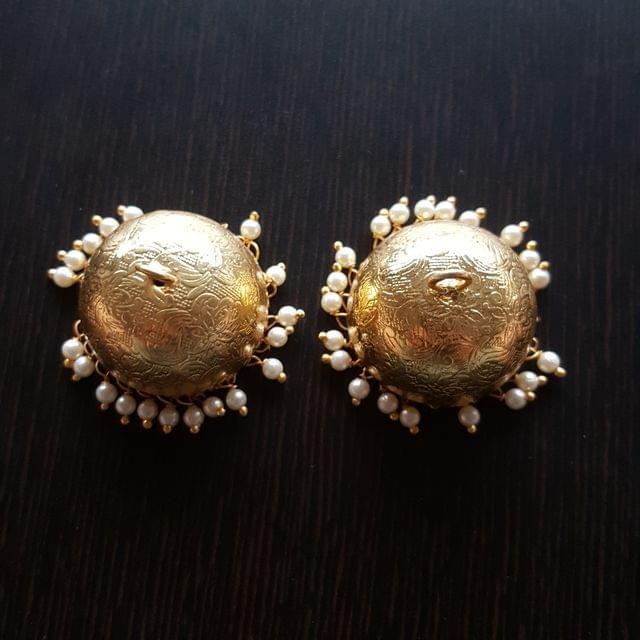 1pair, Golden Brass Jhumki, 24mm