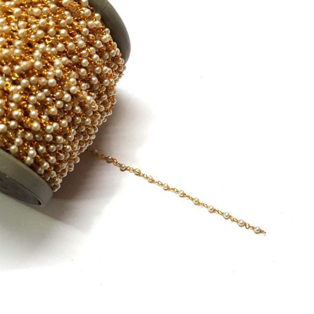 3mm, Pearl Chain, 5 meter