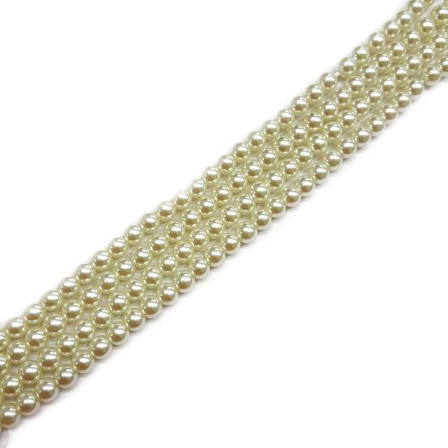 6mm, 4 strands, AA Quality Shell Pearls, 16 inches, 68+ Beads In Each Strand