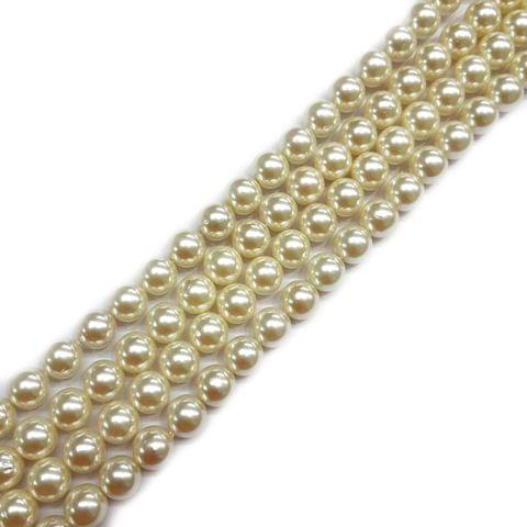 10mm, 2 strands, AAA Quality Shell Pearls, 16 inches, 40+ Beads In Each Strand