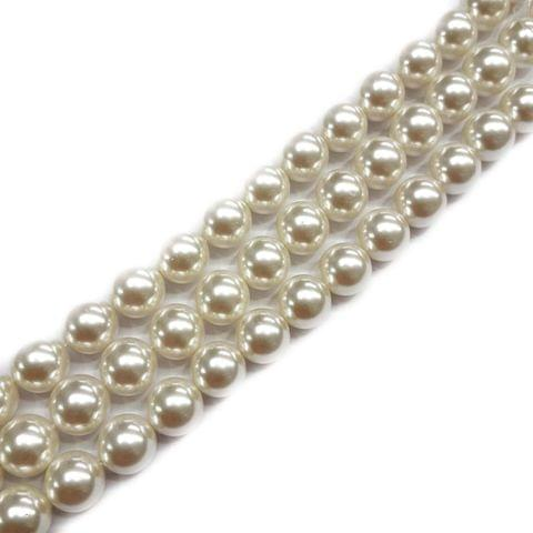 14mm, 2 strands, AAA Quality Shell Pearls, 16 inches, 25+ Beads In Each Strand