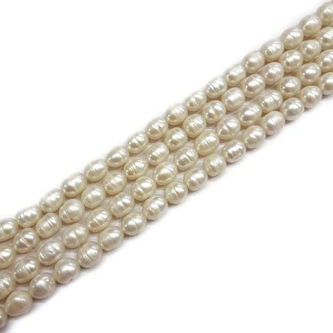 9x11mm, 2 strands, Baroque Pearls, 16 inches, 34+ Beads In Each Strand