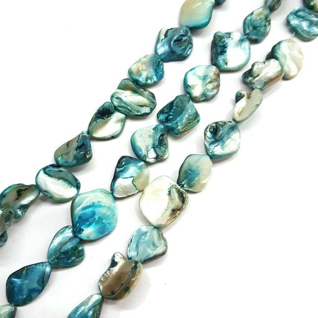 21mm, 2 strands, Mother Of Pearls Shell, 14 inches, 16+ Beads In Each Strand