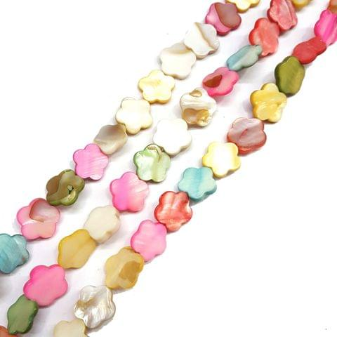15mm, 2 strands, Mother Of Pearls Shell, 16 inches, 26+ Beads In Each Strand
