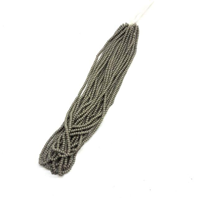 3 Bunches, (1 bunch = 12 lines), 1mm Seed Beads For Jewelry Making (Cheed)