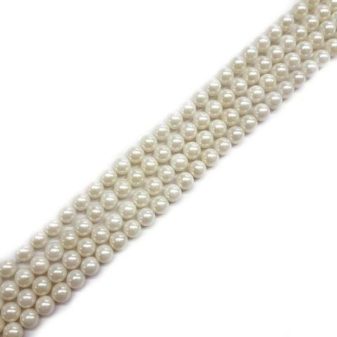 6mm, 2 strands, AAA Quality Shell Pearls, 16 inches, 64+ Beads In Each Strand