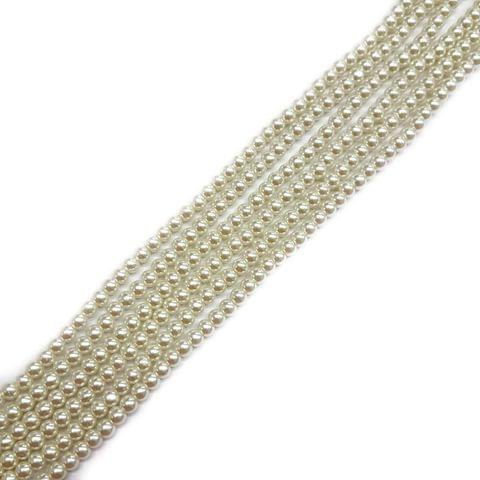 4mm, 4 strands, AA Quality Shell Pearls, 16 inches, 120+ Beads In Each Strand