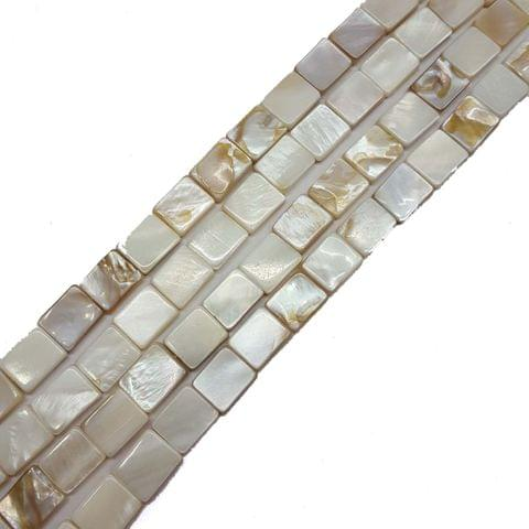 9x11mm, 2 strands, Mother Of Pearls Shell, 14 inches, 32+ Beads In Each Strand