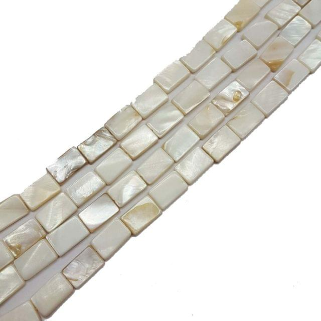 9x15mm, 2 strands, Mother Of Pearls Shell, 16 inches, 25+ Beads In Each Strand