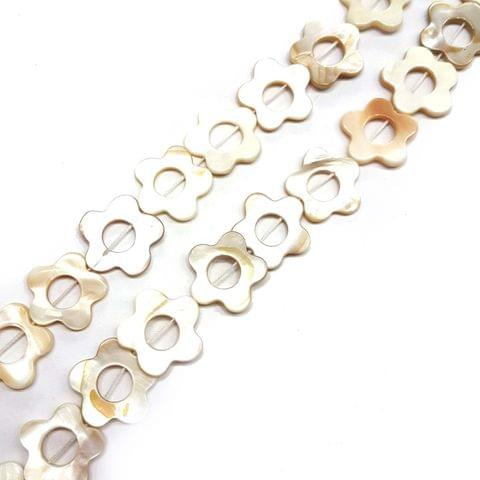 22mm, 2 strands, Mother Of Pearls Shell, 15 inches, 18+ Beads In Each Strand