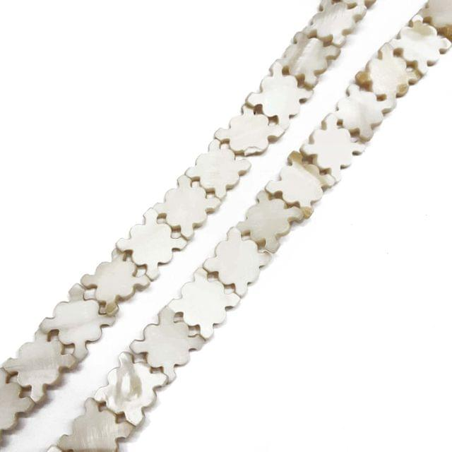16x17mm, 2 strands, Mother Of Pearls Shell, 16 inches, 23+ Beads In Each Strand