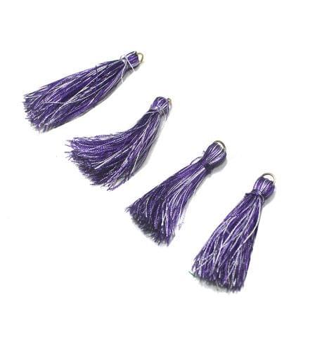 50 Pcs Purple Silk Tassles 1 Inch