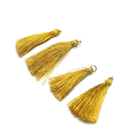 50 Pcs Golden Silk Tassles 1 Inch