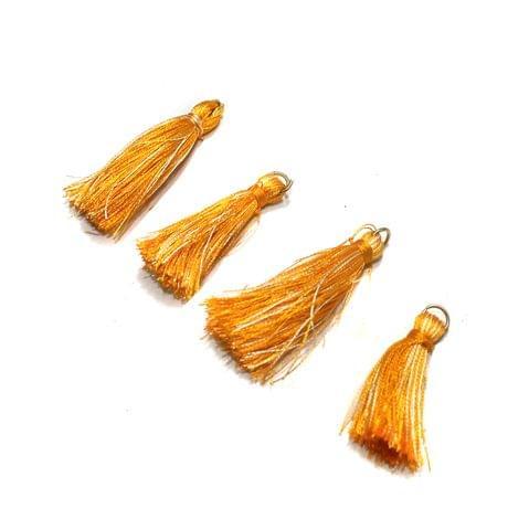 50 Pcs Orange Silk Tassles 1 Inch
