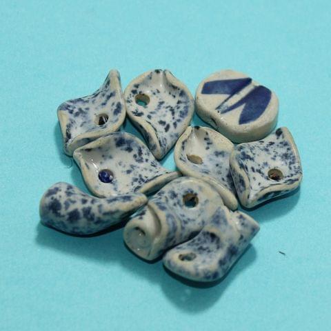 64 Pcs Ceramic Beads Matte Finish Assorted 20-5 mm