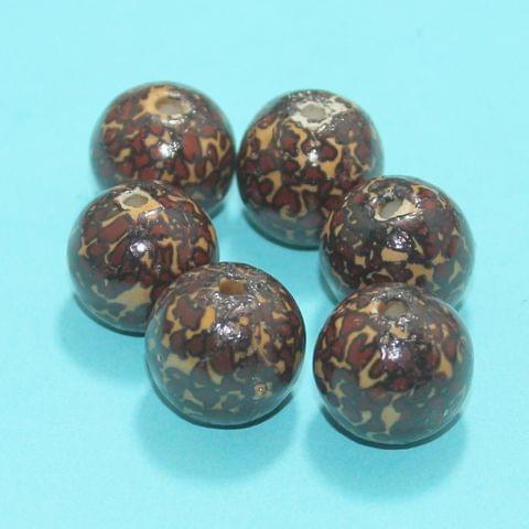 46Pcs Ceramic Beads Assorted 18x21 mm