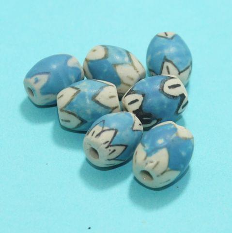 40 Pcs Ceramic Beads Matte Finish Assorted 16x13 mm