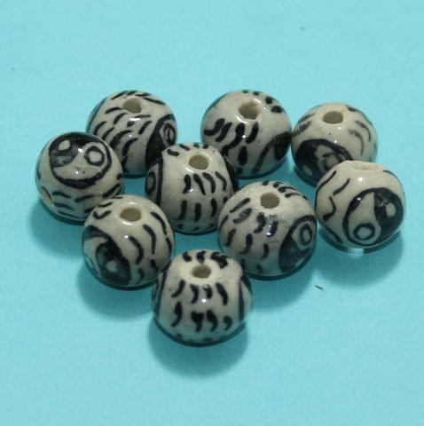 47 Pcs Ceramic Beads Assorted 14x16 mm