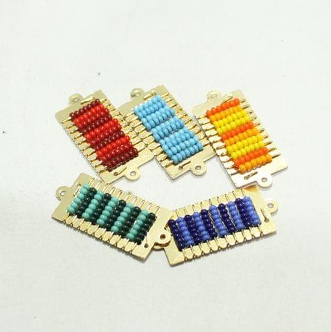 5 Pairs Miyuki Beads Square Connector and Earrings Components 28x15mm