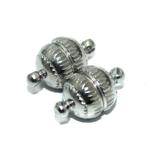 5 Pcs Nickle Plated Magnetic Clasps, Size 22x10mm