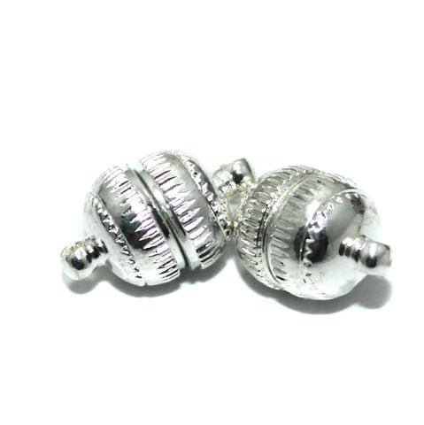 5 Pcs Magnetic Clasps Silver, Size 23x15mm