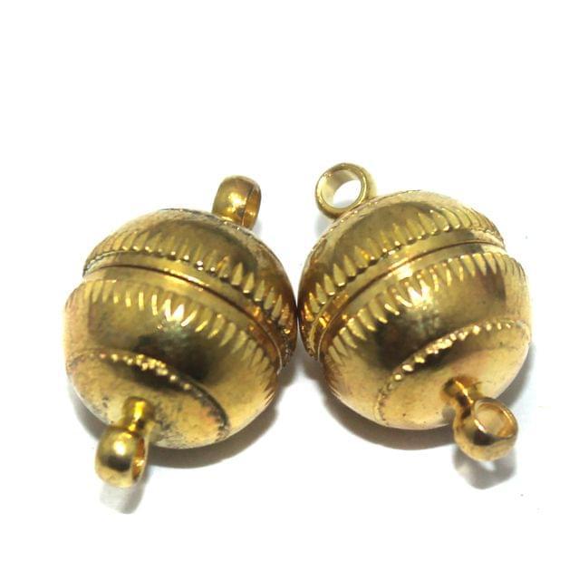 5 Pcs Magnetic Clasps Golden, Size 22x15mm