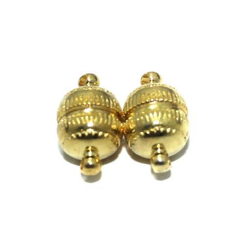 5 Pcs Magnetic Clasps Golden, Size 17x10mm