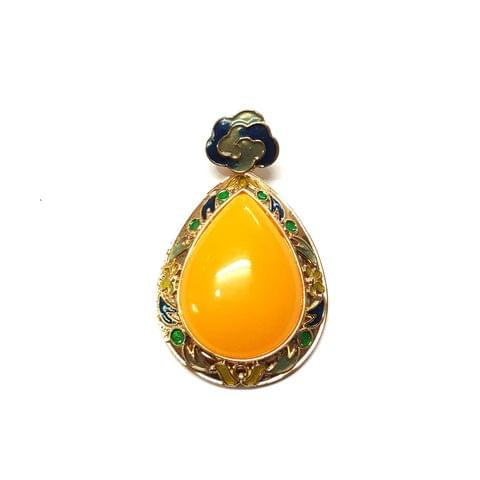 Yellow Color Pendants, Pendant - 2.5 inches