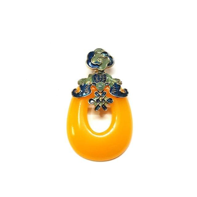 Yellow Color Pendants, Pendant - 2.25 inches