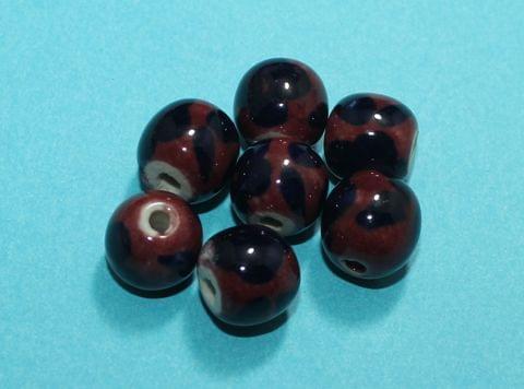 20 Pcs Ceramic Round Beads 13mm