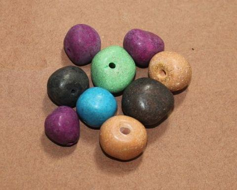 50 Pcs Ceramic MultiColor Beads 19-14 mm