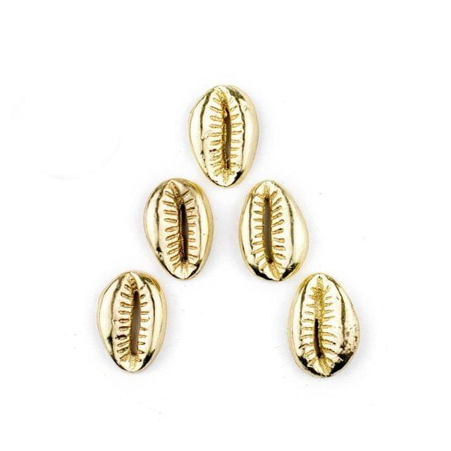 50 Pcs Golden CCB Cowrie Beads 16x12mm
