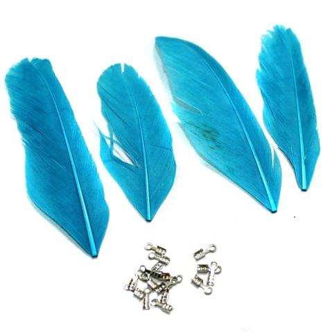 80+ Premium Jewellery Making Feathers Sky Blue