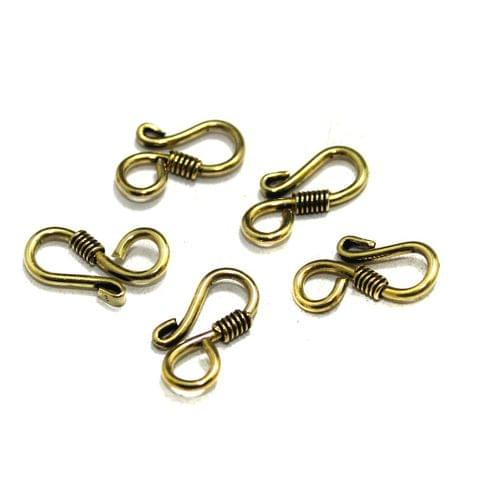 25 Pcs German Silver S Hooks Gold 21x9mm