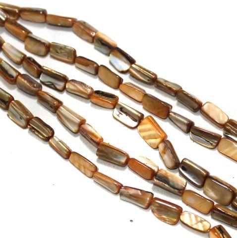 5 Strings Shell Beads Brown Rainbow