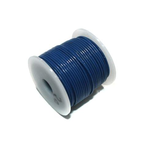 25 Mtrs Jewellery Making Leather Cord Blue 1mm