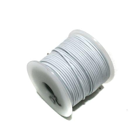 25 Mtrs Jewellery Making Leather Cord White 1mm