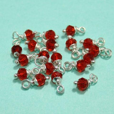 100 Pcs Red Faceted Loreal Beads Rondelle 8mm