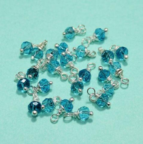 100 Pcs Turquoise Faceted Loreal Beads Rondelle 8mm