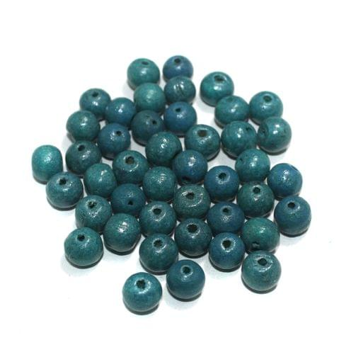 100 Pcs Round Vintage Wooden Beads, Size 10mm