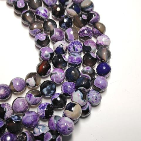 8 mm Agate Beads Multishade Semiprecious Gemstones Faceted Round Beads 2 Strings