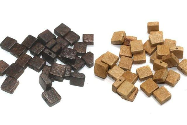 200 Pcs Wooden Beads Combo, Size 10mm