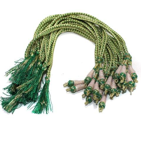 Zari Necklace backrope Dori Green, Pack Of 12 Pcs