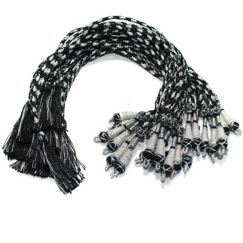 Zari Necklace backrope Dori Black, Pack Of 12 Pcs