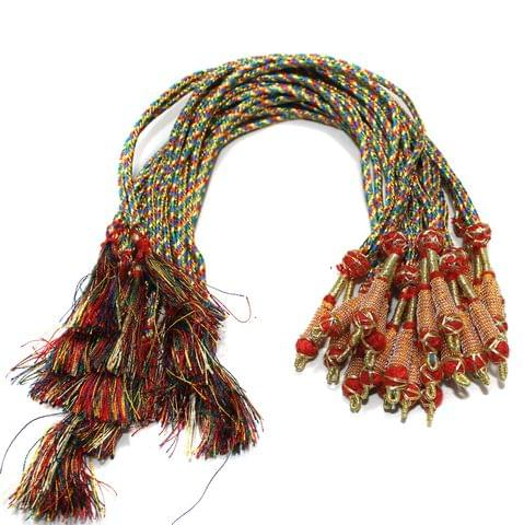 Zari Necklace backrope Dori Multicolor, Pack Of 12 Pcs