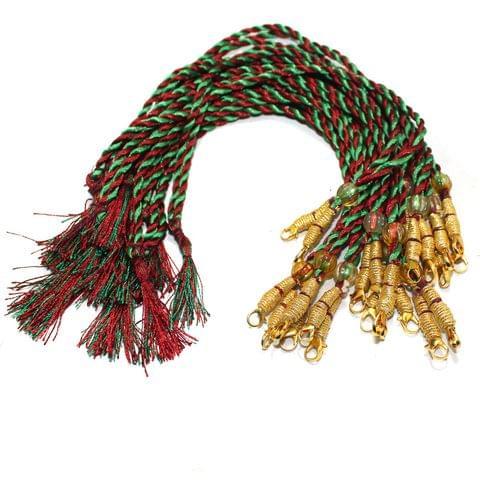 12 Pcs Necklace Backrope Dori Multicolor
